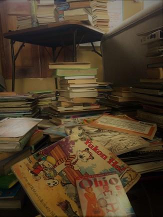 piles of books!