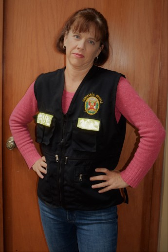 Rach in her police vest