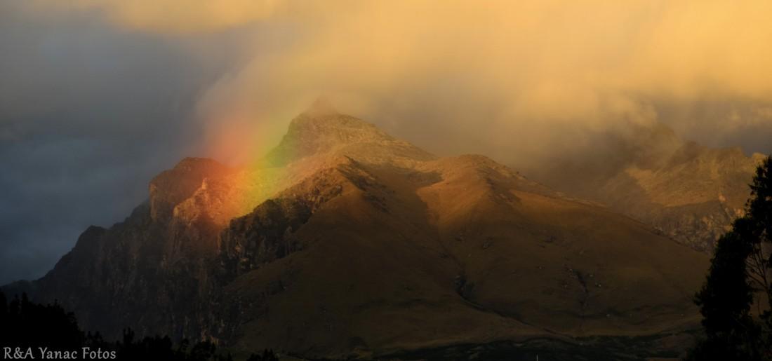 rainbow on churup