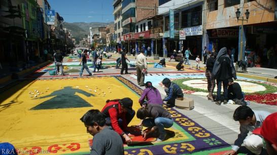 alfombras en Luzuriaga