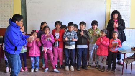 Children in a village school